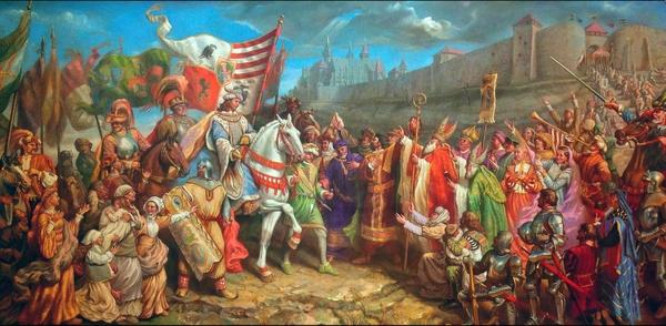 Corvus-Kora Róbert: Az ifjú Hunyadi Mátyás Budára érkezik | Forrás: https://www.gyulaihirlap.hu/113148-gyulan-valositana-meg-egyedulallo-korcsarnok-terve