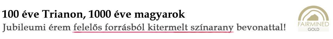 Magyar Éremkibocsátó Kft. - Jubileumi érem méltányosan bányászott színarany bevonattal