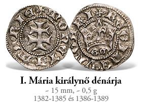 Magyar Éremkibocsátó Kft. - Mária királynő ezüst dénárja