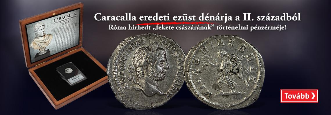 Caracalla eredeti ezüst dénárja a II. századból
