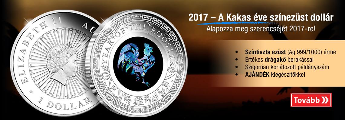 2017 – A Kakas éve színezüst dollár