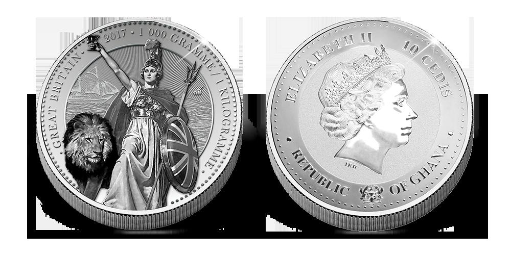 Magyar Éremkibocsátó Kft. - 1 kilogrammos ezüst Britannia érme