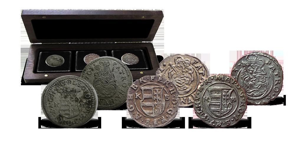 Magyar Éremkibocsátó Kft. - 17. századi magyar királyok ezüst dénárjai díszdobozban