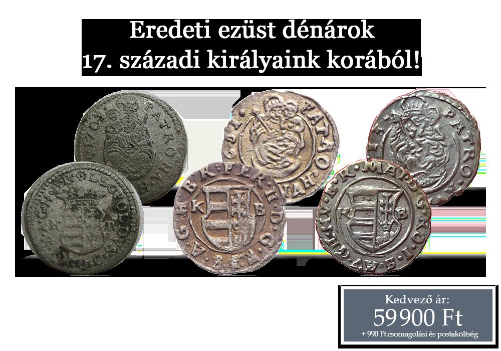 A 17. század magyar királyainak valódi ezüst dénárjai