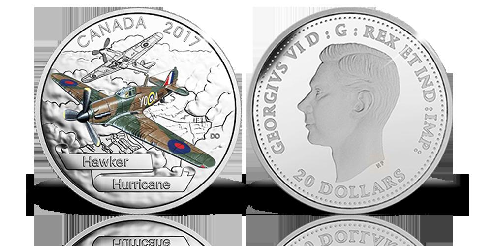 A legendás II. világháborús brit repülőgép színezüst érmén