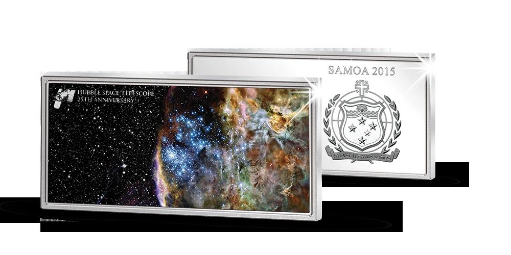 Hivatalos színezüst dollár a világhírű műhold 25. évfordulójának tiszteletére!