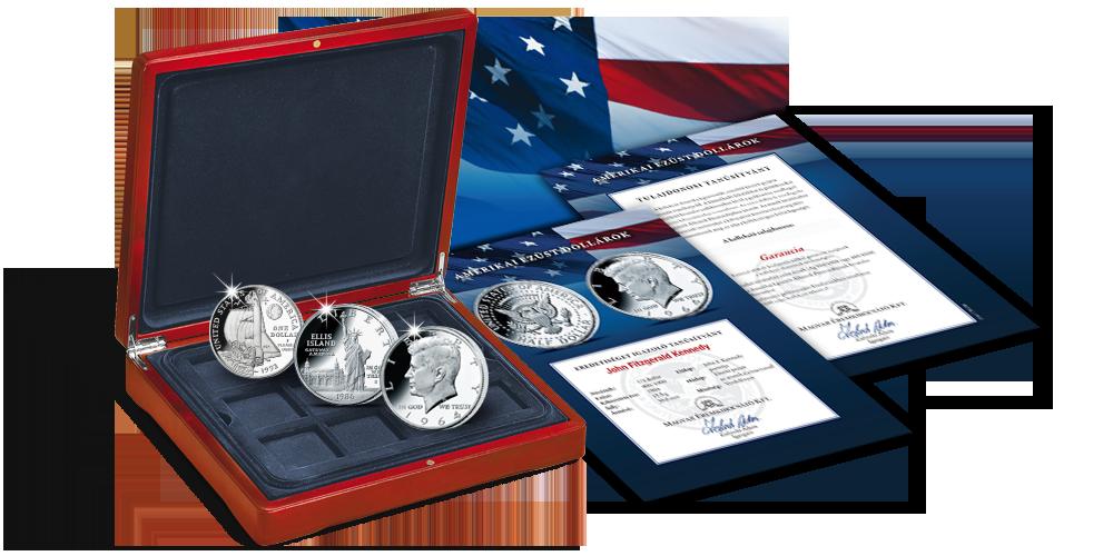 Magyar Éremkibocsátó Kft. - Amerikai ezüst dollárok érmegyűjtemény