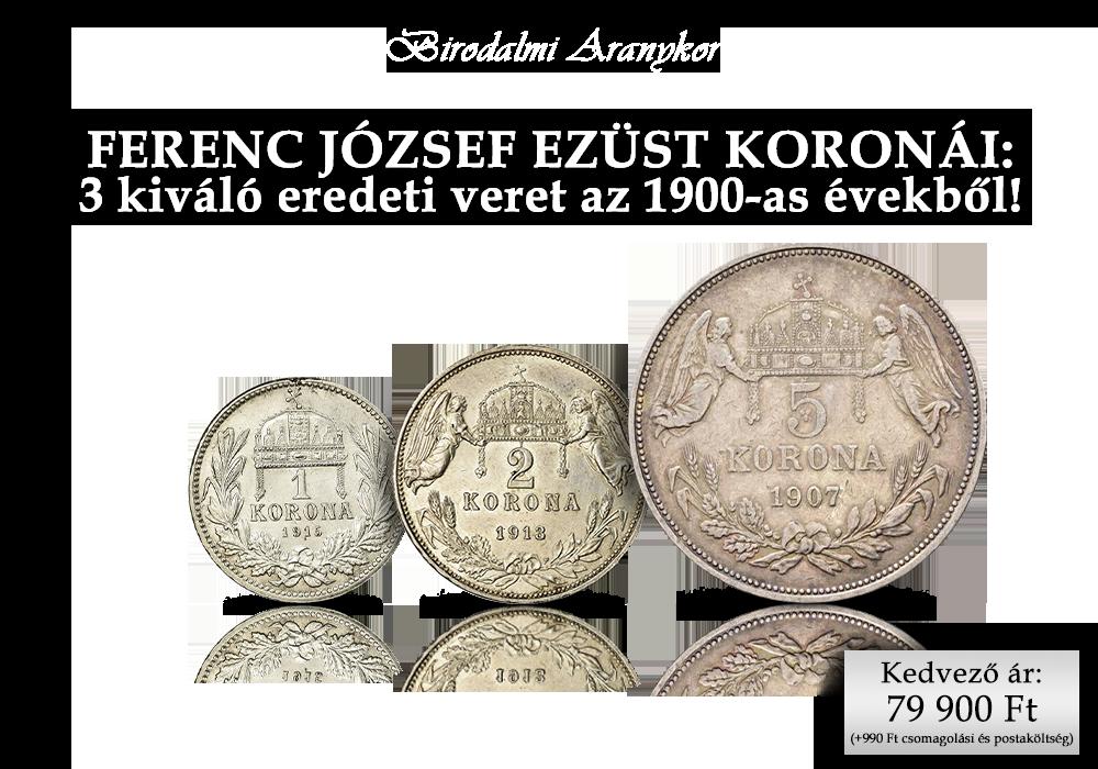 Eredeti ezüst érmék az osztrák-magyar birodalomból