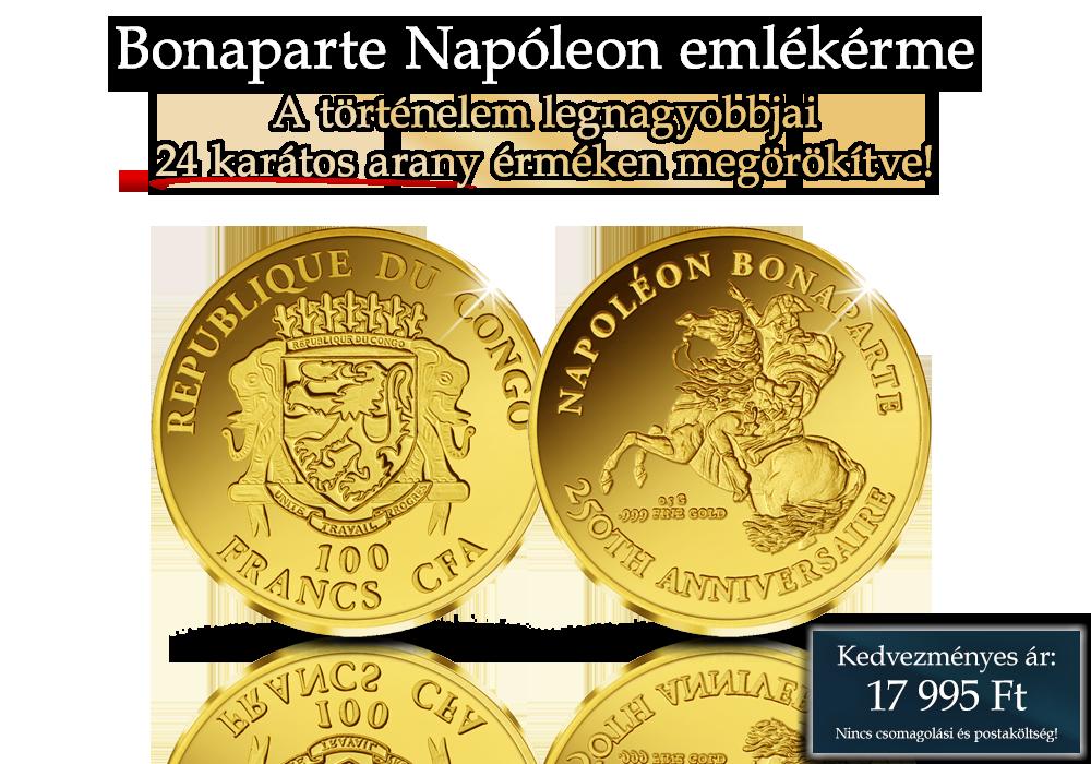 A történelem legnagyobbjai 24 karátos arany érméken megörökítve!