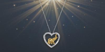 Elefántos szív medál