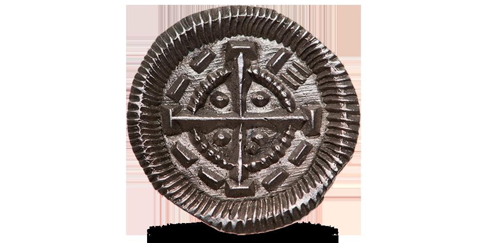 II. Béla ezüst dénár - előlap