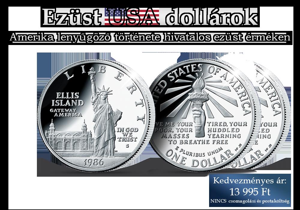 Amerika lenyűgöző története hivatalos ezüst érméken!