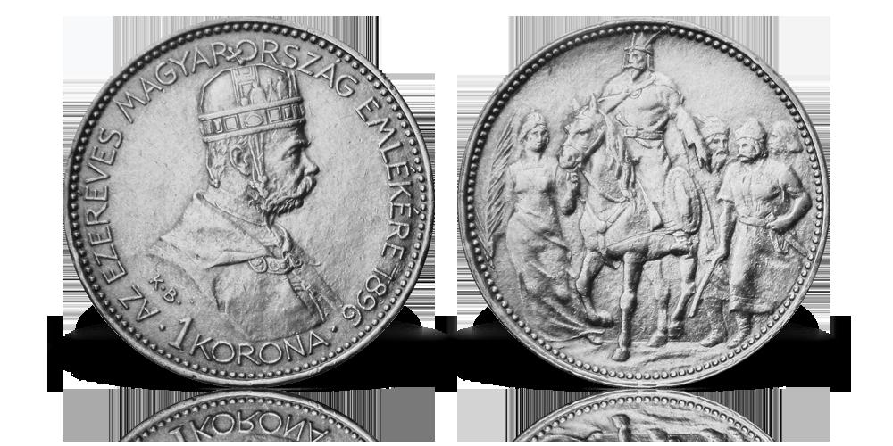 Ferenc József millenniumi ezüst koronája