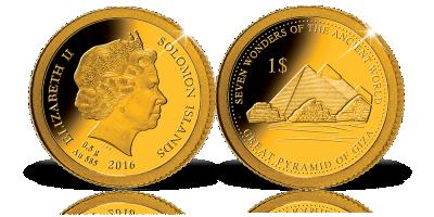 A világ hét csodája a világ legkisebb arany érméin