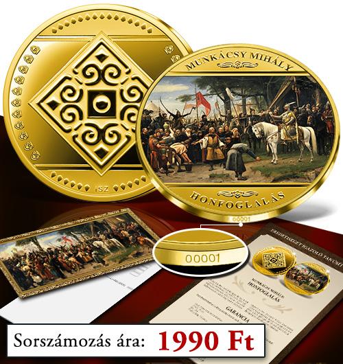 Magyar Éremkibocsátó Kft. - Sorszámozott Honfoglalás emlékérem kiegészítőkkel