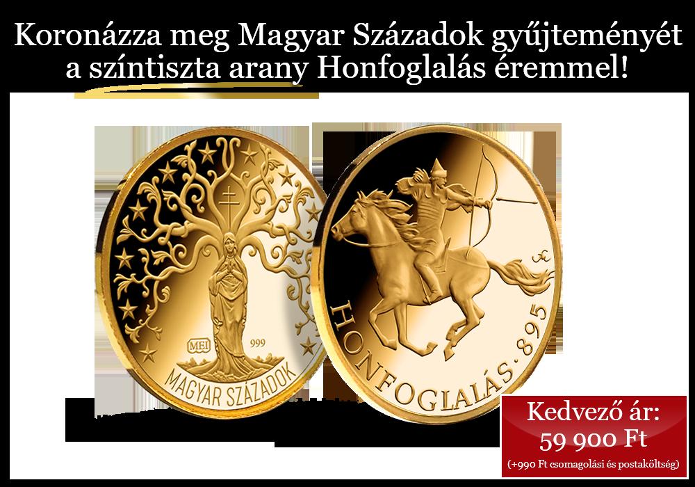 24 karátos arany érem nemzetünk első diadalának tiszteletére