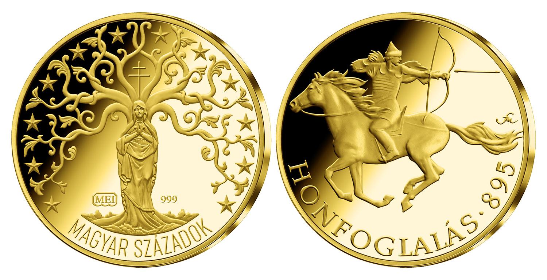 Magyar Éremkibocsátó Kft. - Arany honfoglalás érem 0,5 g