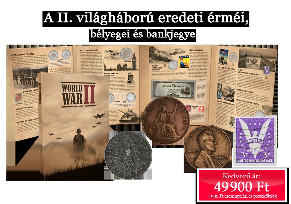 A II. világháború eredeti érméi, bélyegei és bankjegye!