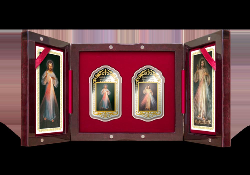 Isteni irgalmasság 2 ezüst érme