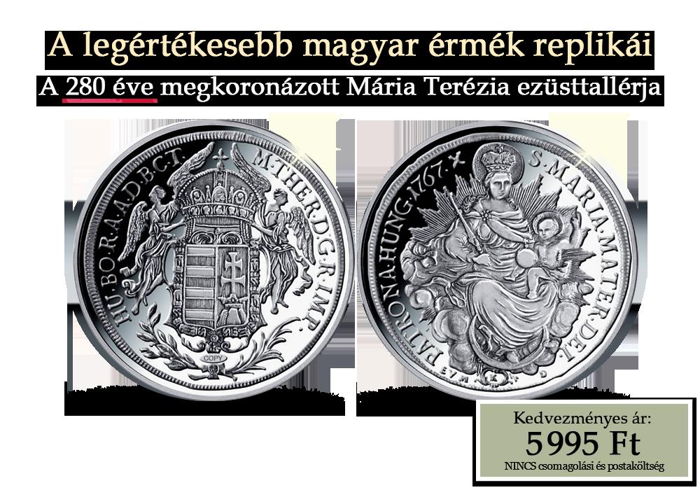 A legértékesebb magyar érmék replikái