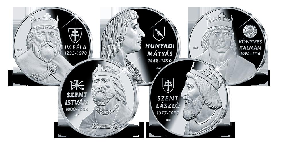 Magyar Királyok érem szett