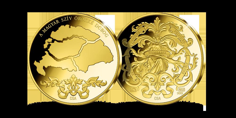 Magyar szív érem méltányosan bányászott aranyból