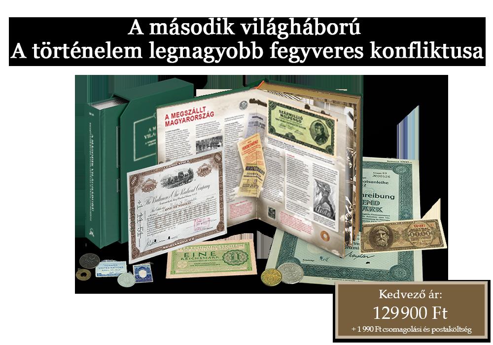 Rendkívüli numizmatikai könyv 63 történelmi kibocsátással!