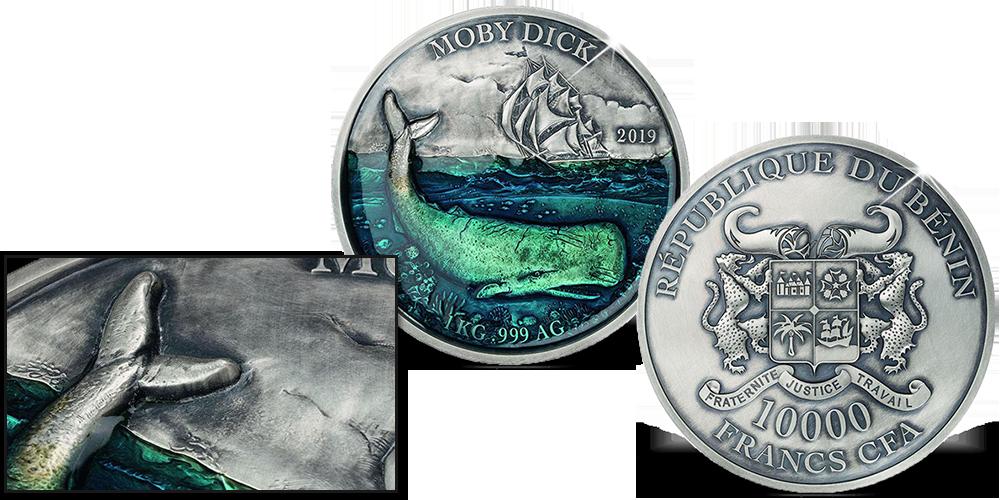 bbf448c5ea Magyar Éremkibocsátó Kft. - 1 kilogrammos színezüst Moby Dick érme ...