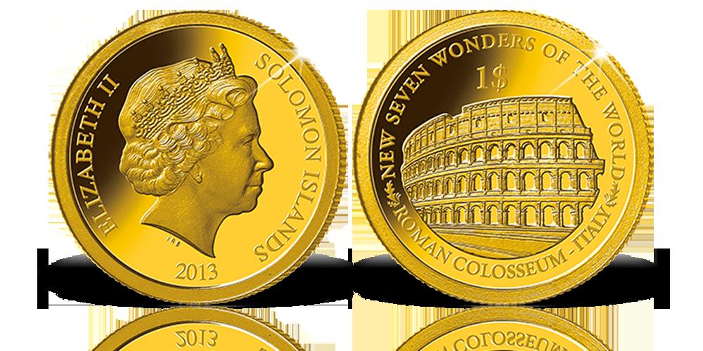 A világ hét új csodája a világ legkisebb arany érméin