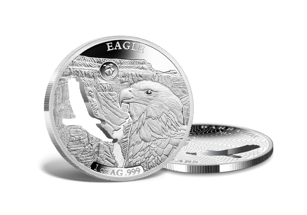 Fehérfejű rétisas színezüst érme