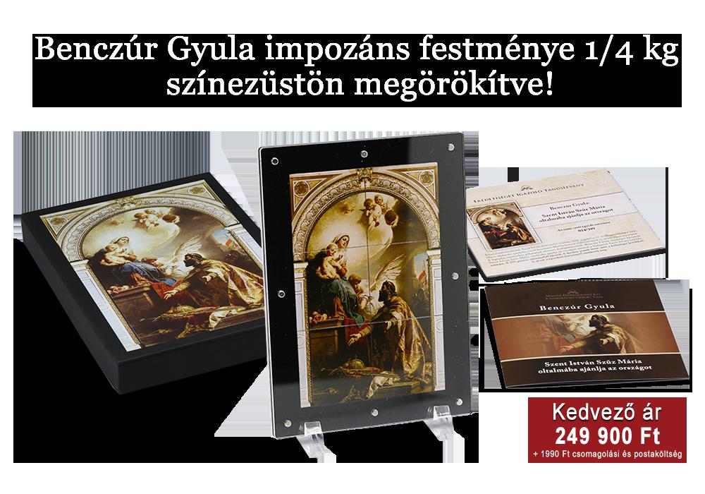 Benczúr Gyula impozáns festménye 1/4 kg színezüstön megörökítve!