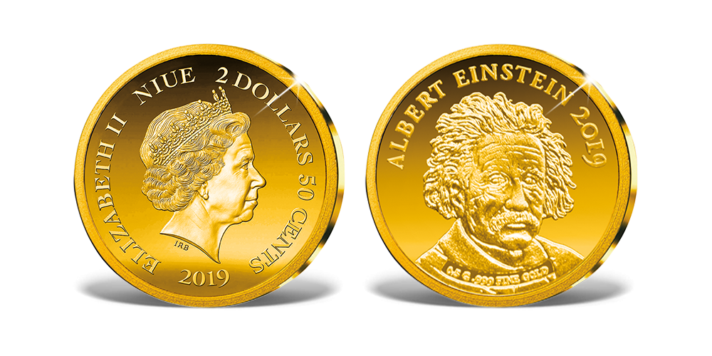 Magyar Éremkibocsátó Kft. -  A világ legkisebb arany érméi - Albert Einstein emlékérme