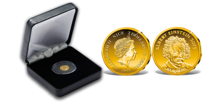 A világ legkisebb arany érméi - Albert Einstein emlékérme