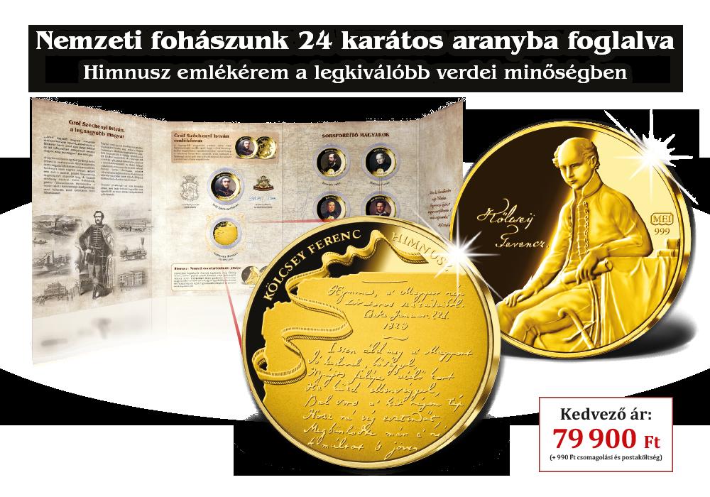 Nemzeti fohászunk 24 karátos aranyba foglalva