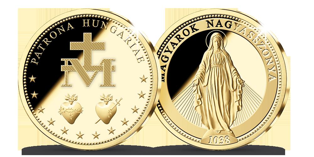 Magyar Éremkibocsátó Kft. - Színarany Szűz Mária emlékérem méltányosan bányászott aranyból