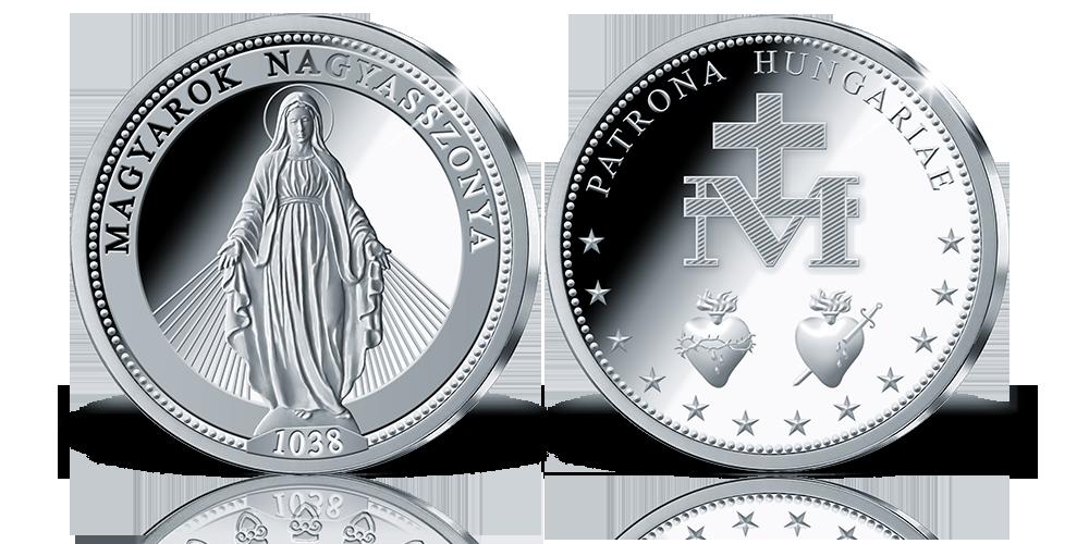 Különleges ajánlat: Szűz Mária emlékérem színezüstből!