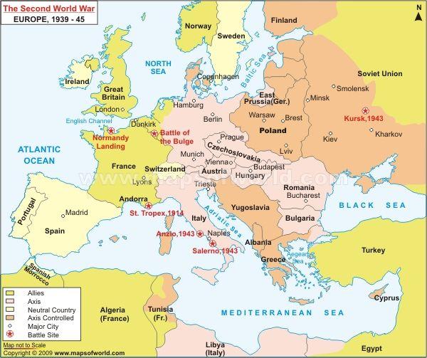 II. világháború résztvevő országai